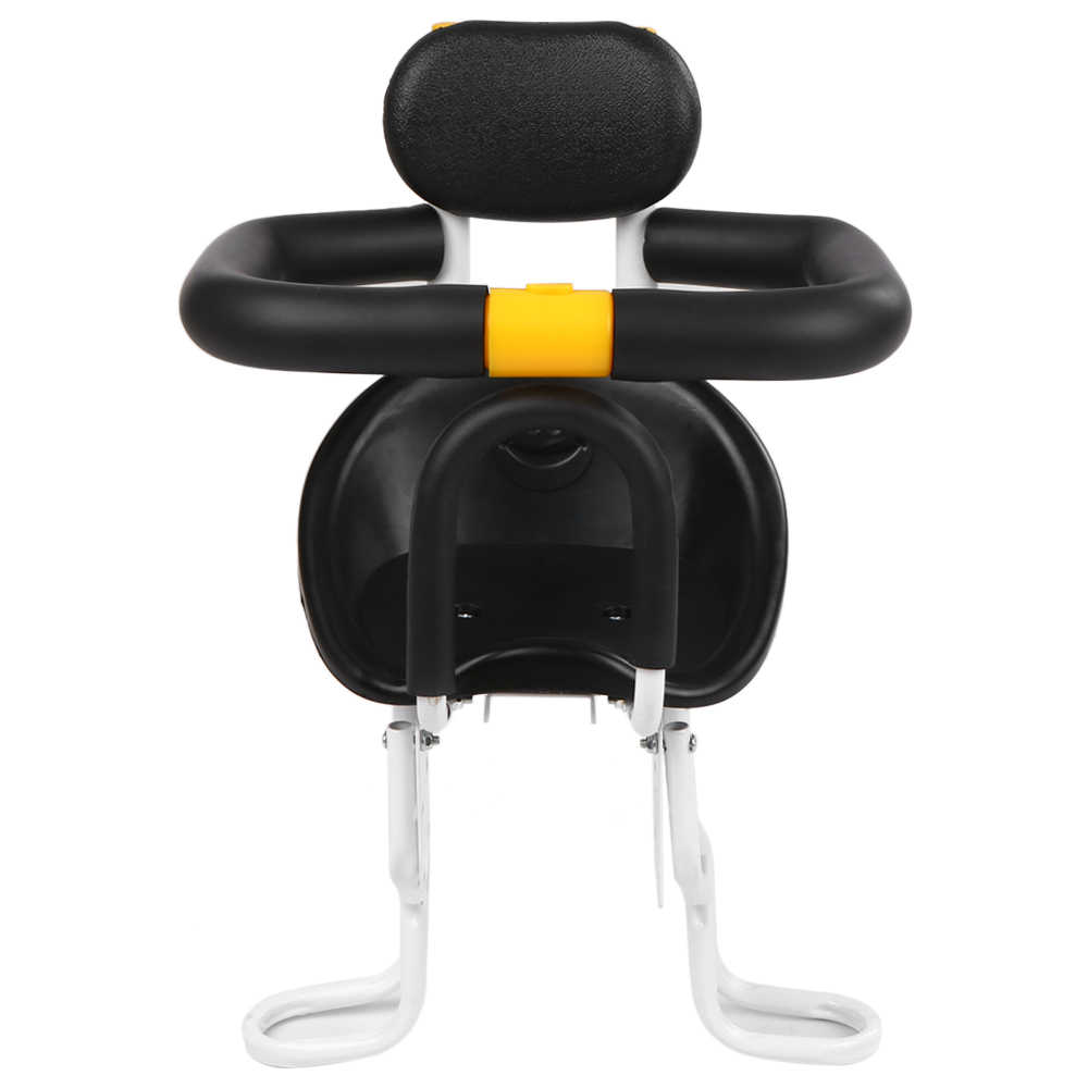 Lixada Safety Child Bicycle Seat Bike Front Baby Seat Kids Saddle with Foot Pedals Support Back Rest for MTB Road Bike Accessory