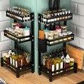 Кухонная полка из нержавеющей стали  черная приправа  повседневные потребности  получаются многослойная подставка для специй