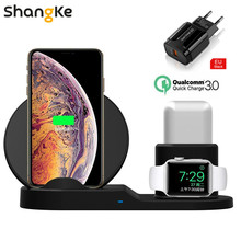 3 in 1 10W Fast Wireless Charger Dock Station Fast Charging For iPhone 11 X Xs XR 8 AirPods Samsung For Apple Watch iWatch 4 3 2