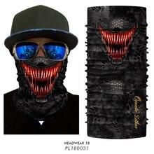 3D Venom Head Scarf Face Mask Buff Military Neck Leggings Plaid Braga Cuello Hombre Hunting Camping Scarf Quick-drying Winter