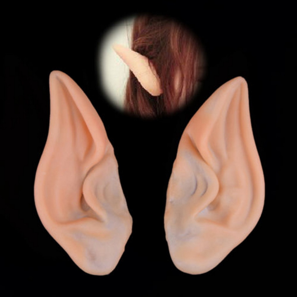 1 Pair New Chic Elf Fairy Vulcan Alien Cosplay LARP Halloween Costume Ear Tips  Hot