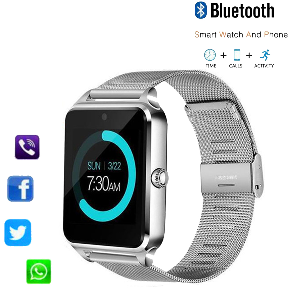 Z60 <font><b>Smart</b></font> <font><b>Watch</b></font> <font><b>GT08</b></font> <font><b>Plus</b></font> <font><b>Metal</b></font> Strap Bluetooth Wrist Smartwatch Support Sim TF Card Music play For Android IOS PK Y1 S8 IWO 8 image