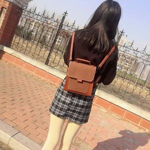Image 3 - 여성 패션 배낭 여성 높은 품질 스크럽 가죽 책 학교 가방 10 대 소녀에 대 한 도스 여행 배낭 Mochilas