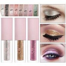 Professional new bright eyeliner ladies cosmetics shiny pearlescent multicolor diamond eye shadow liquid makeup
