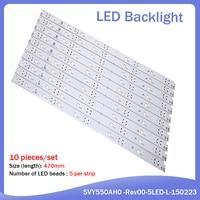 55 1Set= 10Pieces For 55 inch TV KD-55X8000C Led backlight strip SVY550AH0 SVY550AH0-Rev00-5LED-L-150223 5 Lamps (1)