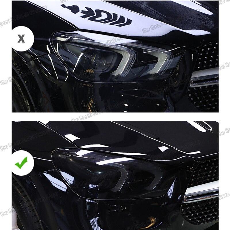 Lsrtw2017 TPU şeffaf siyah araba far koruyucu Film Mercedes Benz GLE sınıf W166 W167 anti-scratch 2016-2020 2019