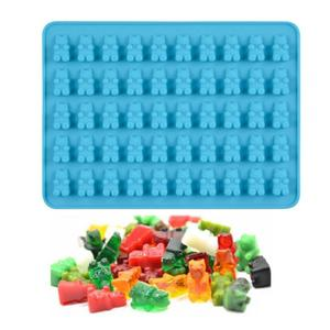 Silicone Mold Gummy Bear Shape Chocolate Mould Jelly Bear Cake Candy Trays With Dropper Rubber Chocolate Maker Kitchen Gadgets