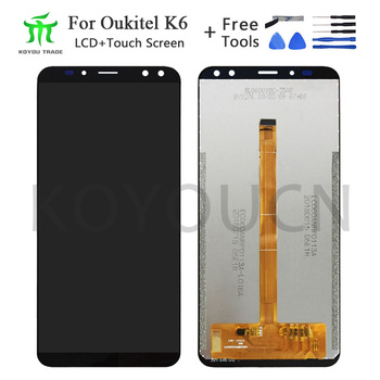 6inch For Oukitel K6 LCD Display+Touch Screen 100% Tested LCD Digitizer Glass Replacement For lcds K6 display phone