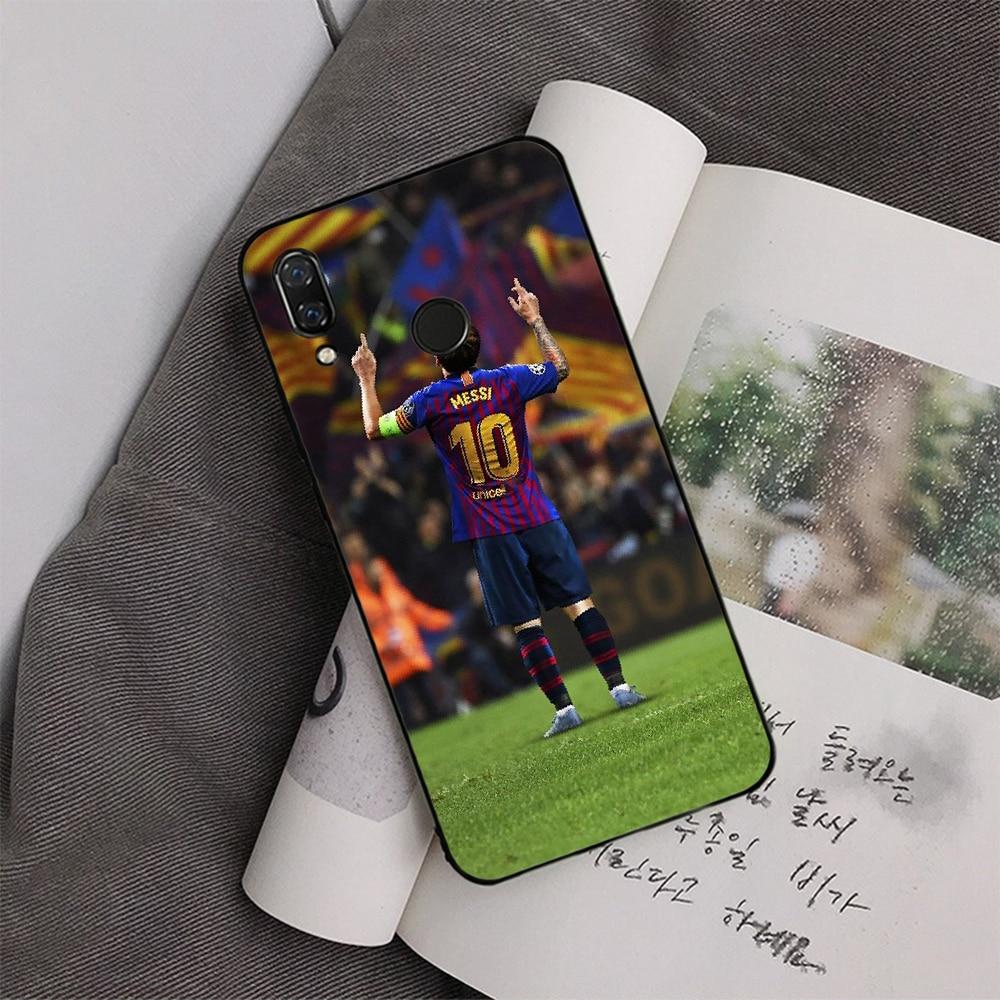 Funda de teléfono Ronaldo Football superstar Lionel Messi personalizada foto suave para redmi 5 plus 6 Pro 6A S2 4X 7A i7 note7 GO