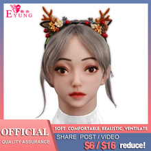 Emily Beauty Silicone Mask Halloween Carnival Costume Human Female Party Crops Masquerade Crossdress Costume Cosplay Mask manluyunxiao aquaman mera cosplay female high boots flat heel carnival halloween costume for women masquerade shoes