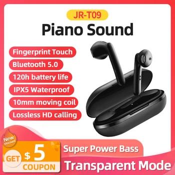 Joyroom T09 TWS Wireless Earphone HiFi Stereo Earbuds Bluetooth Earphone True Wireless Earphone Headset Large Battery 500mAh