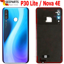 Nieuw Voor Huawei Nova 4e Back Battery Cover Glas Achter Deur Behuizing Case 6.15