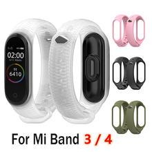 Duoteng модный mi band 4 ремешок силиконовый браслет для xiaomi