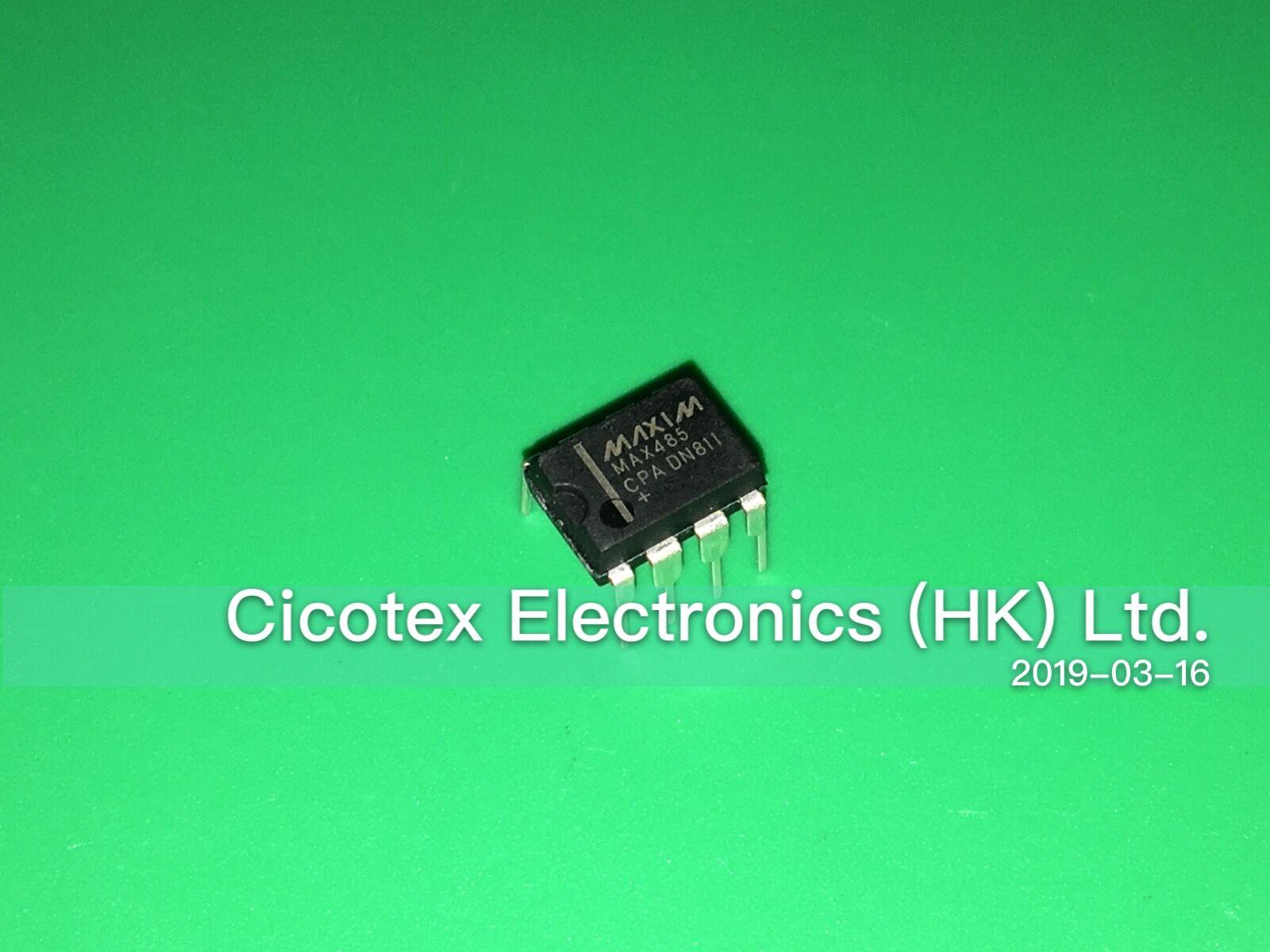 10pcs/lot MAX485CPA+ DIP8 IC TXRX RS485/RS422 LOWPWR 8-DIP MAX485 CPA MAX 485CPA