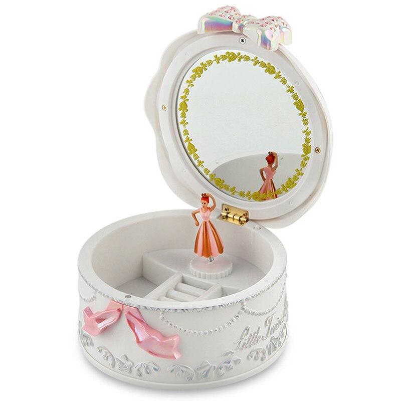 Girls Musical Jewelry Boxes Ballerina Rotating Music Box Gramophone Toys for Children Kids Birthday Gifts
