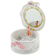 Girls Musical Jewelry Boxes Ballerina Rotating Music Box Gramophone Toys for Children Kids Birthday Gifts