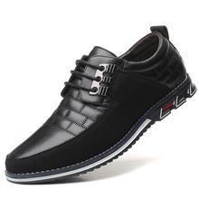 Г. Новые кожаные мужские туфли-оксфорды, большие размеры 38-48 модные повседневные деловые Свадебные модельные туфли без шнуровки Мужская Прямая поставка