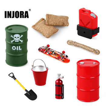 INJORA RC Car Simulated Decorations Tool Accessories for 1:10 RC Crawler Traxxas TRX4 TRX6 Axial SCX10 90046 AXI03007 Redcat MST