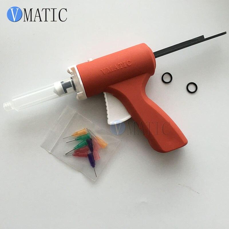 Free Shipping 5cc 5ml Plastic Soldering Flux Syringe Caulking Gun For Green Oil