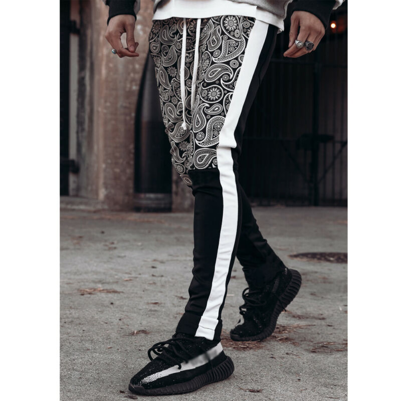 Mens Sport Pants Tracksuit Workout Jogging Joggers Sport Gym Sweatpants Trousers