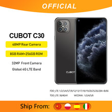 Cubot 8gb smartphone c30 global 4g lte 128/256gb 32mp selfie 48mp quad câmera helio p60 nfc 6.4
