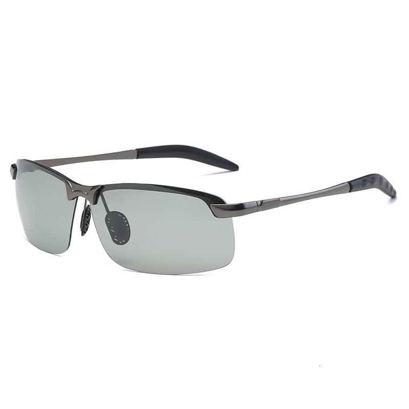 Occhiali da sole fotocromatici uomo polarizzati guida camaleonte occhiali uomo cambia colore occhiali da sole visione notturna occhiali da guida 5