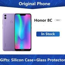 Smartphone honor 8c 4g lte original, celular com núcleo octa core, android 8.1, tela de 6.26