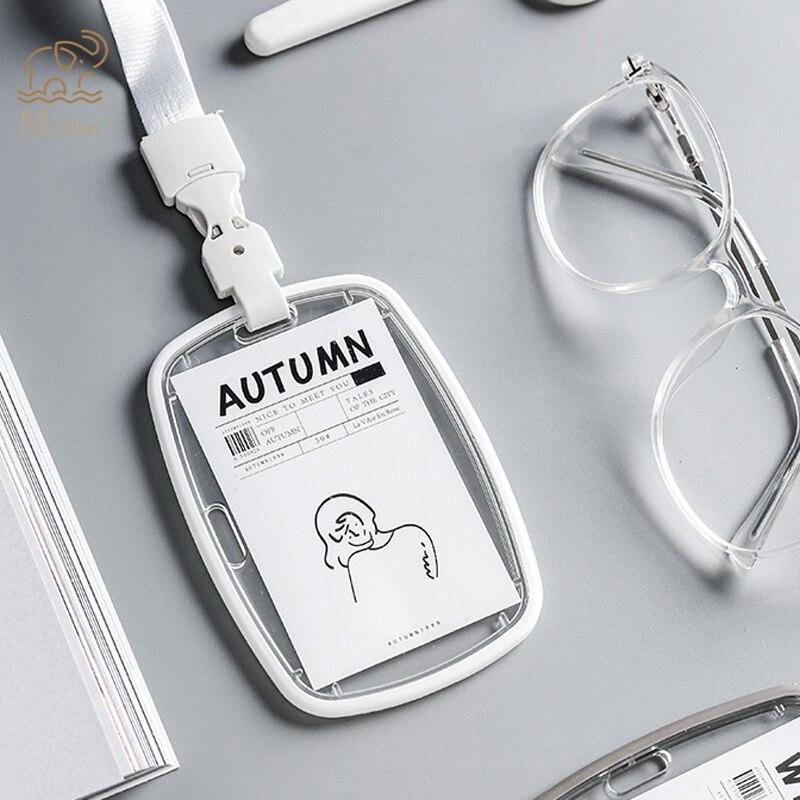Four Seasons Acrylic Soft Transparent Card Holder Nurse Doctor Exhibition Key ID Name Card Badge Holder School Office Supplies