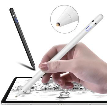 Aktywny rysik pióro dotykowe dla Apple iPad dla samsung galaxy tablet dotykowy pióro dla iPad 10 2 mini 5 4 Air 1 2 3 tanie i dobre opinie Pojemnościowy ekran Uniwersalny Tabletki Innych touch Metal White Black red silver gold rose gold Active Stylus Touch Pen