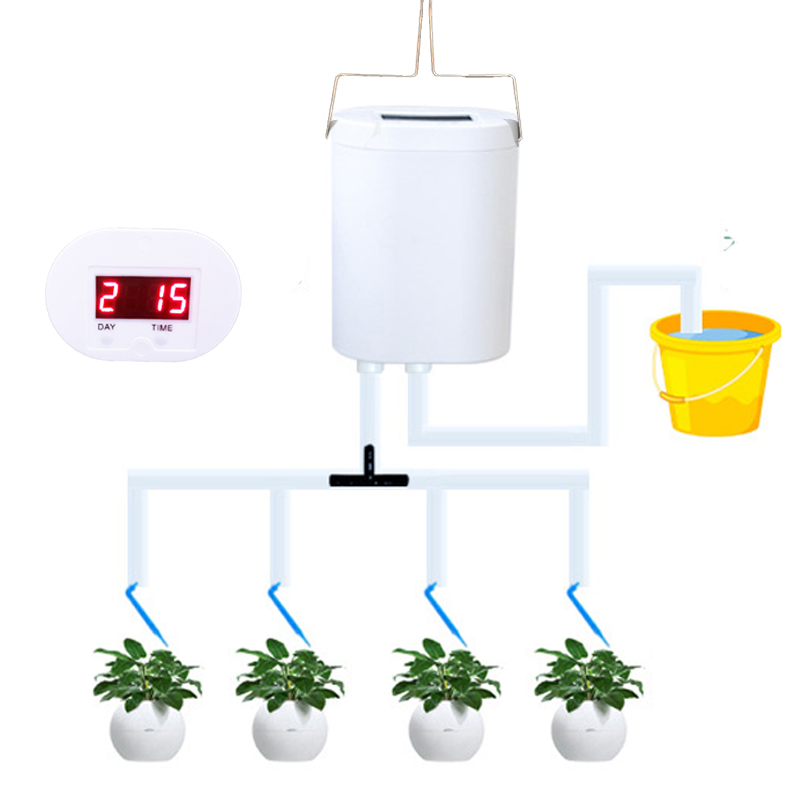 plant  potted  automatic spray  irrigation timing Watering the flowers machine for Household/ office, suspension rechargeable|Garden Water Timers| |  - title=