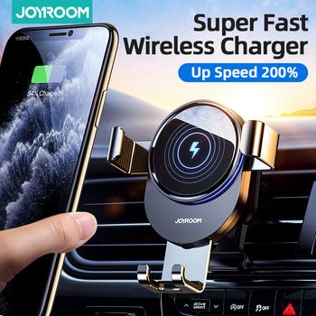 15W Qi uchwyt samochodowy telefon bezprzewodowa ładowarka samochodowa inteligentny podczerwieni dla Air Vent góra ładowarka samochodowa bezprzewodowy ForiPhone Xiaomi tanie i dobre opinie Joyroom Ładowarka bezprzewodowa Rozszerzenie do serii Gravity CN (pochodzenie) Uniwersalny JR-ZS212 compatible with Qi standard wireless charging model