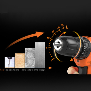 Image 4 - Lomvum Electric Screwdriver 21+1 Torque Power Tools 12/16/24V 2  Speed Cordless Drill Lithium Ion  Electric Drill 45 Accessories
