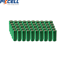 50pcs PKCELL 2/3 AAA batterie 400mAh 1.2V 2/3AAA NI MH batterie Rechargeable NiMh 2/3aaa piles industrielles plateau plat en gros