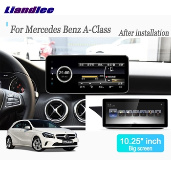 Liandlee Android For Mercedes Benz A Class W176 2012~2016 Car Radio Player Navi Nav GPS Maps Camera OBD TV Screen BT no cd dvd image