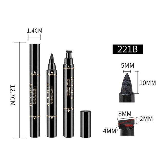 1 Pcs Double-ended Eyeliner 2-in-1 Waterproof Black Eyeliner Pencil Make Up Beauty Cosmetics Long-lasting Eye Liner makeup tools 3