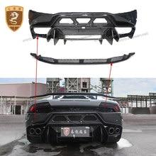 Parachoques trasero y difusor de fibra de carbono para Lamborghini Huracan LP610 LP580, Kits de carrocería de parachoques trasero, estilo CORS