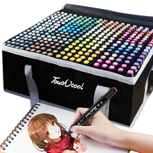 Marker-Pen Watercolor-Brush-Pen Alcohol-Based Drawing-Art TOUCHCOOL 262-Color Dual-Tip
