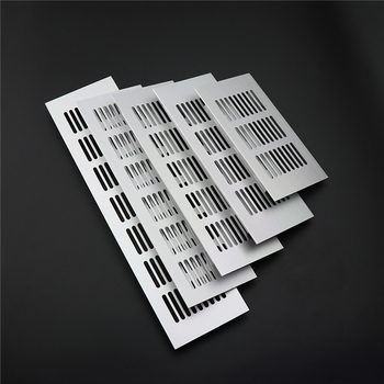 50Pcs/lot Anti-rust aluminum alloy Square Wardrobe Cabinet Mesh Hole Silver Air Vent Louver Ventilation Cover Furniture hardware