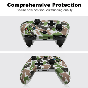 Image 2 - For Xbox One X S Controller Gamepad Camo Silicone Cover Rubber Skin Grip Case Protective For Xbox One Slim Joystick