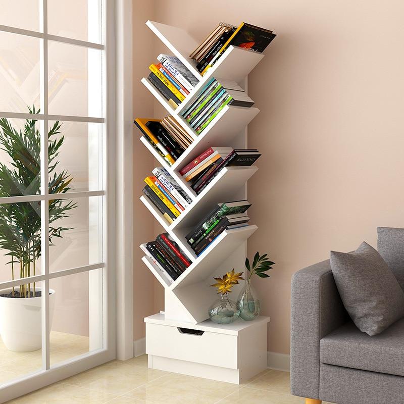 VIP Bookshelf Simplicity Students Bookcase Floor Multilayer Living Room Creative Storage Shelf Tree Minimalist Modern Province S