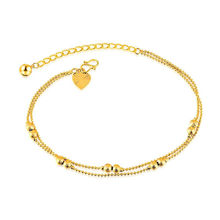 Bead Chain Beach Anklet Bracelet On The Leg Women Slim Adjustable Wire Anklets Jewelry Wholesale High Quality Titanium Steel(China)