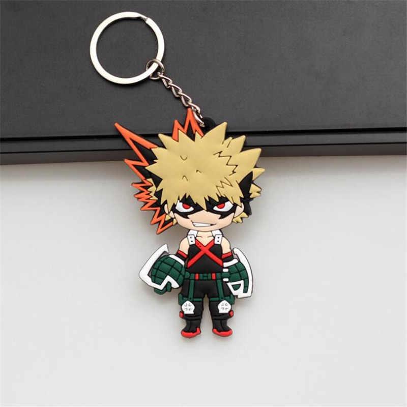 ใหม่ญี่ปุ่นอะนิเมะ My Hero Academia Key Chain Bakugou Katsuki Midoriya Izuku การ์ตูนน่ารัก PVC Key Ring Cosplay Badge acc แฟนซี