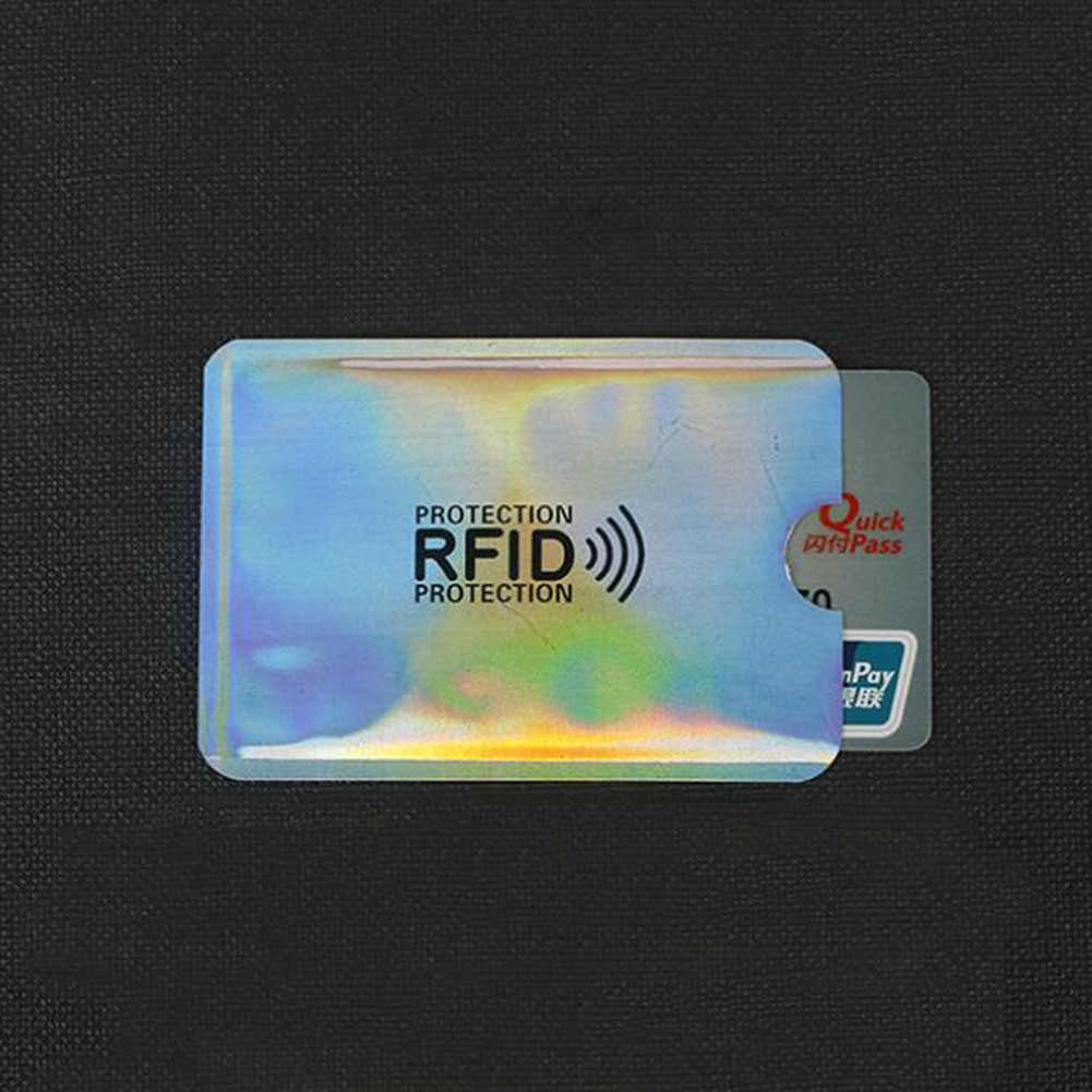 Anti Rfid Wallet Blocking Reader Lock Bank Card Holder Id Bank Card Case Protection Metal Credit NFC Holder Aluminium 6.3*9.1cm