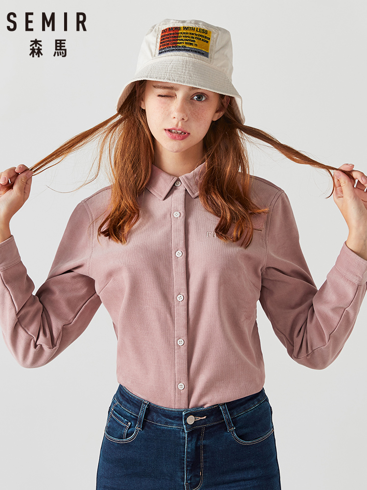 SEMIR 2019 Women Blouses Short Sleeve O-neck Front Bow Tie New Womens Tops White Shirts Blusa Casual camisa