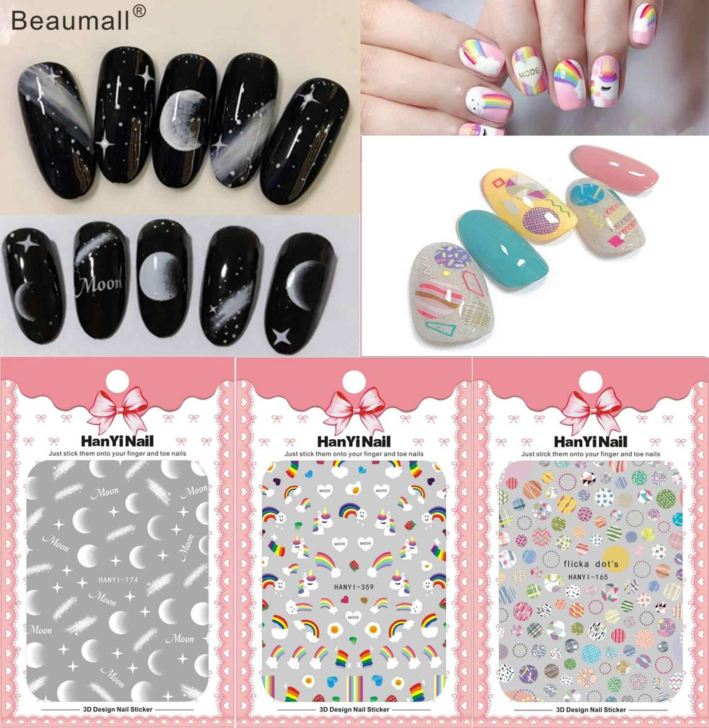 Fashion Nails Art Manicure Terug Lijm Decal Decoraties Ontwerp Nail Sticker Voor Nagels Tips Beauty