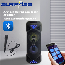 Wireless Bluetooth Trolley Speaker Portable Big Power Stereo Subwoofer Heavy Bass Speakers Sound Box Support Mic FM Radio TF USB