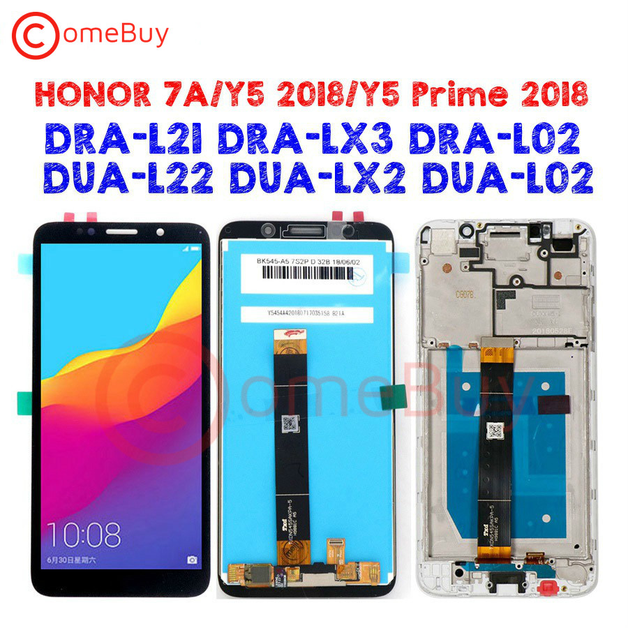 Comebuy Display For <font><b>Huawei</b></font> Y5 Prime 2018 LCD Display Honor 7S DUA-L02 L22 LX2 Touch Screen Honor 7A Display Y5 2018 <font><b>DRA</b></font>-<font><b>L21</b></font> LX3 image