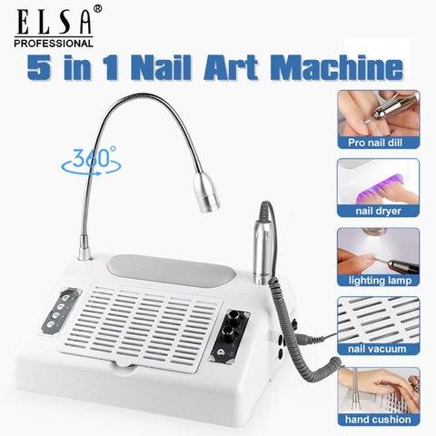 5 em 1 conjunto de manicure do prego com secador de unhas eletrica broca do