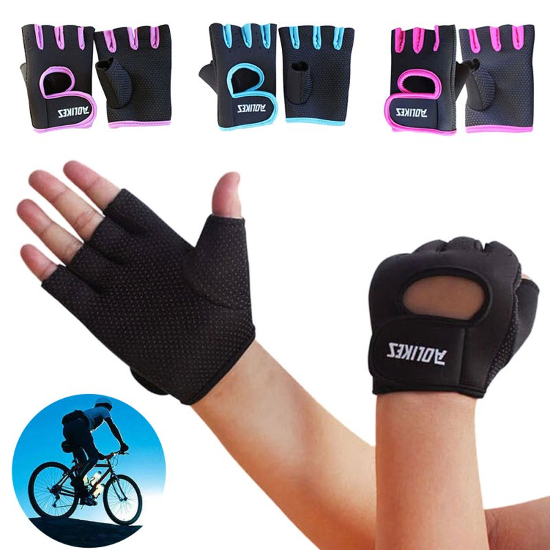 Cycling Half Finger Gloves Gym Accessories 1 Pair Sport Workout Gym Gloves Men Women Fitness Gym Weight Lifting Outdoor Riding