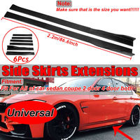 2019 2/2.2M Side Skirts Extension Panel Lip Splitter Stickers For Lexus For BMW For KIA Side Skirts Extension Panel Lip Splitter
